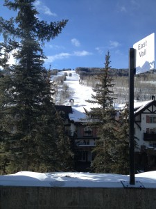 The view from the Vail transfer center.