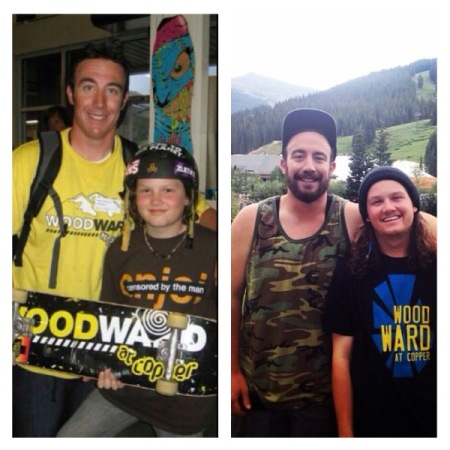 That first year my mom made me take a picture with Bruce on the last night of camp. Bruce has been at Woodward ever since that first year, and every year since Bruce and I have taken a picture just like the original one. P: Travis Hoffarth and Bruce Sandstrom