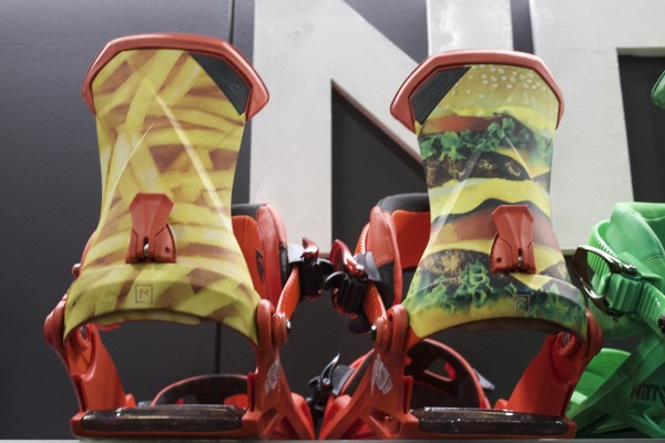 Pizza? Please it's all about burgers and fries with Nitro Bindings.